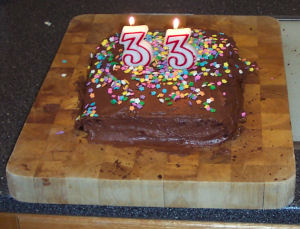 Trish's 33rd Birthday Cake
